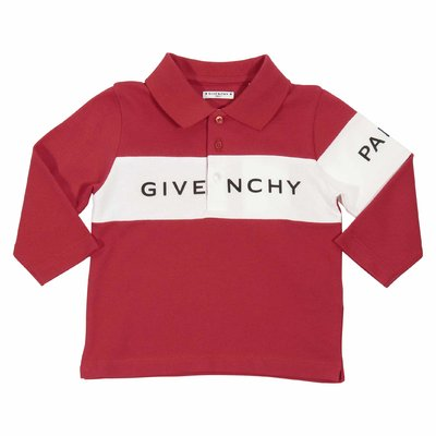 Givenchy red logo detail cotton piquet baby boy polo shirt