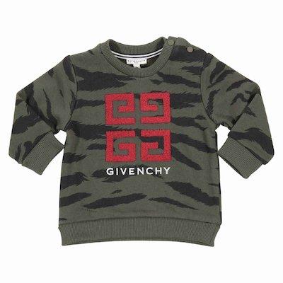 Camouflage military green 4G logo detail cotton sweatshirt