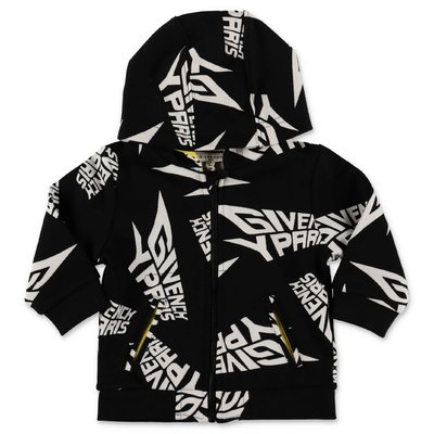 Givenchy logo black cotton sweatshirt hoodie
