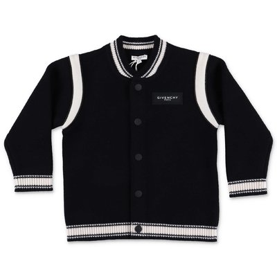 Givenchy black cotton & cahsmere knit cardigan