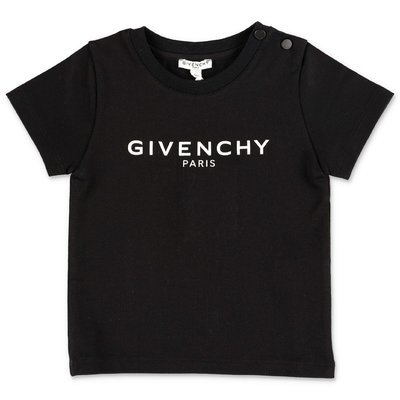 Givenchy black logo detail cotton jersey baby boy t-shirt