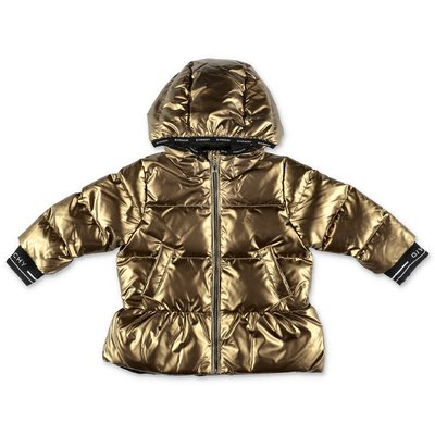 Givenchy bronze nylon down jacket with hood