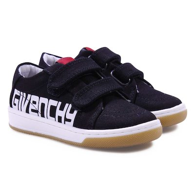 Black cotton canvas sneakers