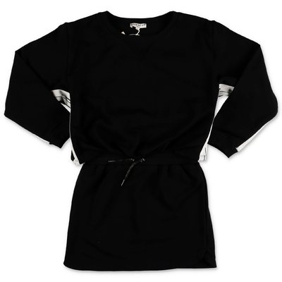 Givenchy layered effect logo black sweatshirt cotton dress
