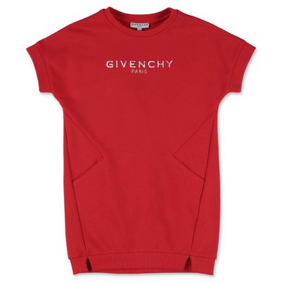 Givenchy red Vintage logo cotton t-shirt dress