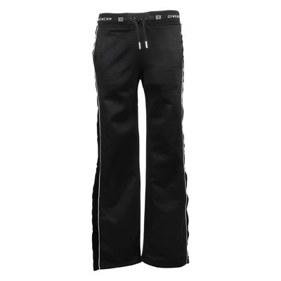 Black cotton blend sweatpants