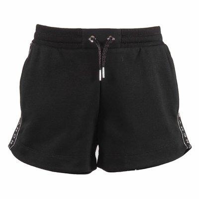 Shorts neri in cotone con logo