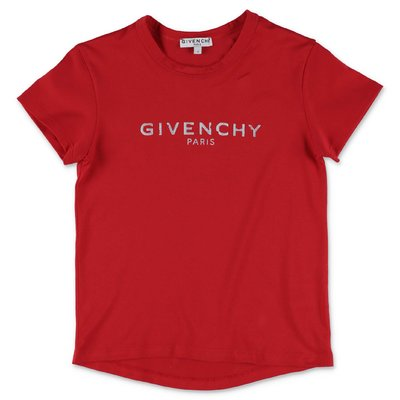 Givenchy red Vintage logo detail cotton jersey t-shirt