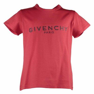 T-shirt rossa in jersey di cotone con logo vintage
