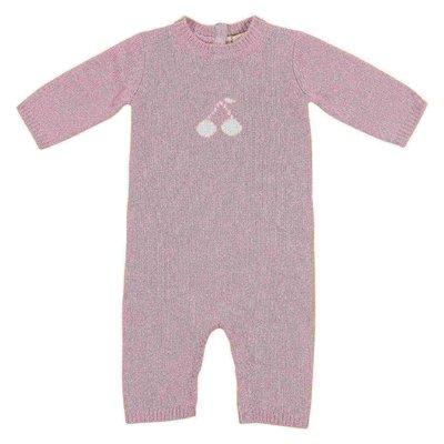 Tutina rosa in maglia di cashmere