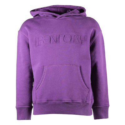 Bonpoint purple logo cotton teen girl sweatshirt hoodie