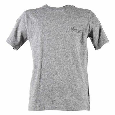 Melange grey logo detail cotton jersey t-shirt