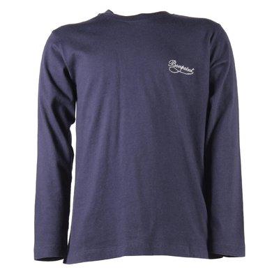 Blue navy logo detail cotton jersey t-shirt