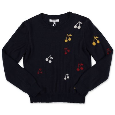 Bonpoint dark blue wool knit jumper