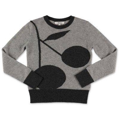 Bonpoint grey pure cashmere jumper with Iconic pattern