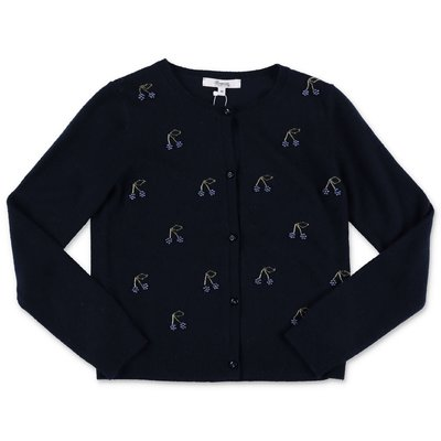 Bonpoint dark blue pure cashmere knit cardigan