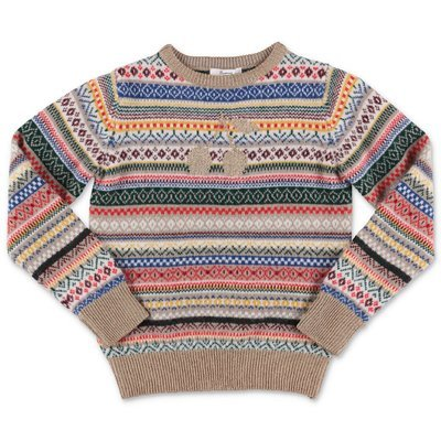 Bonpoint multicolor wool blend knit jumper