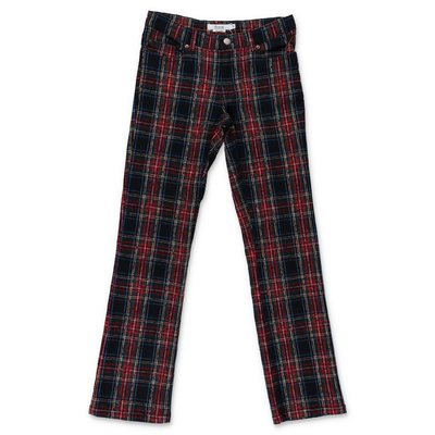 Bonpoint tartan cotton gabardine pants