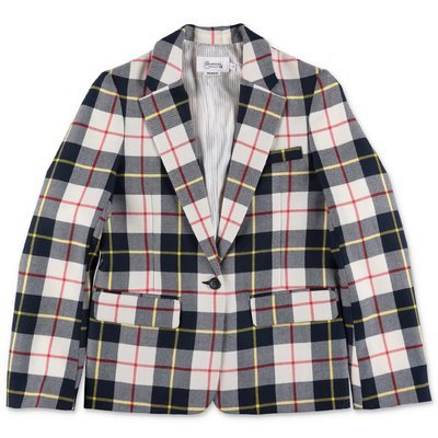 Bonpoint checked pure wool jacket