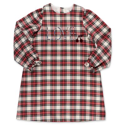 Bonpoint red tartan cotton flanel dress