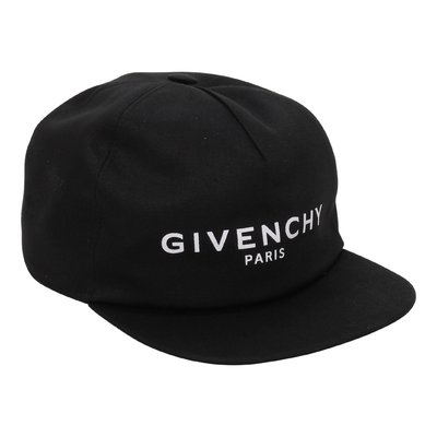 Givenchy black cotton canvas boy baseball cap