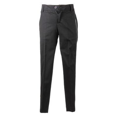 Pantaloni neri in lana con logo