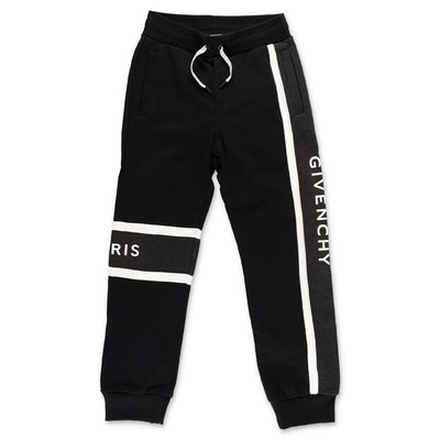 Givenchy logo black cotton sweatpants