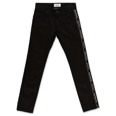 Givenchy pantaloni neri in denim di cotone stretch