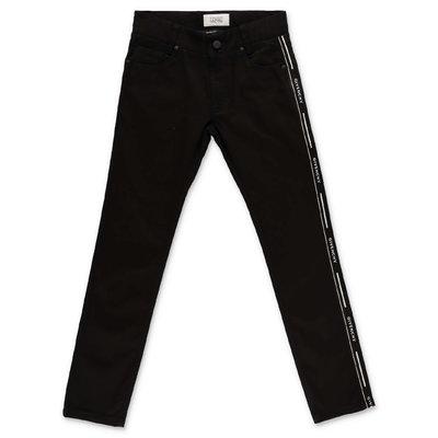 Givenchy pantaloni neri in denim di cotone stretch