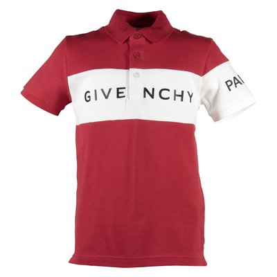 Red logo piquet cotton polo shirt