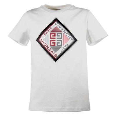White logo cotton jersey t-shirt