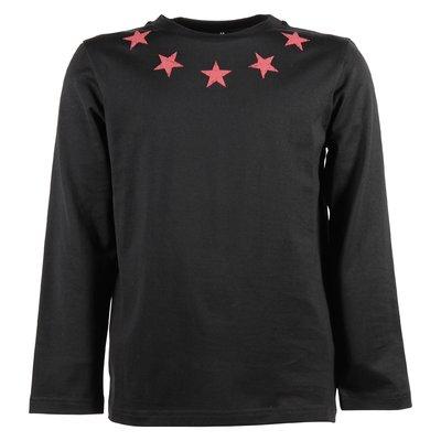 T-shirt nera con stelle stampate