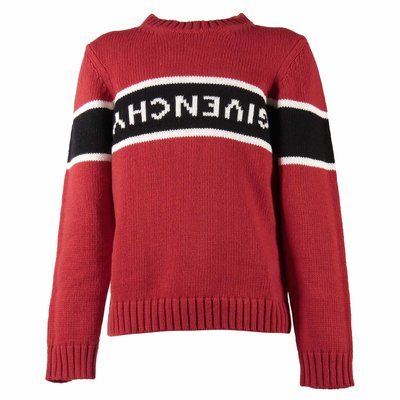 Red wool and cashmere jumper