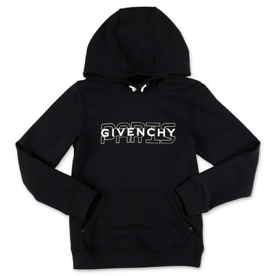 Givenchy black logo detail cotton hoodie