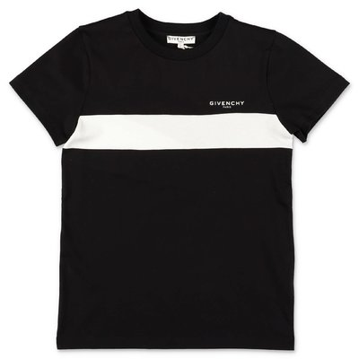 Givenchy t-shirt nera in jersey di cotone con logo