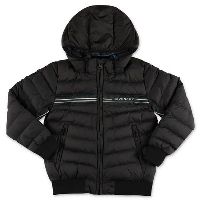 Givenchy black nylon down jacket with hood