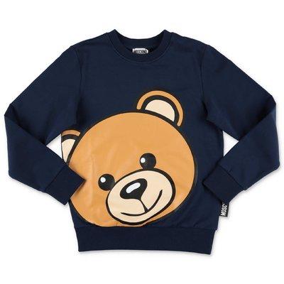 MOSCHINO felpa blu navy Teddy Bear in cotone