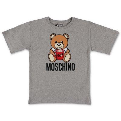 Moschino t-shirt grigio melange