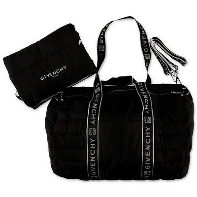Givenchy borsa cambio imbottita nera in nylon con logo
