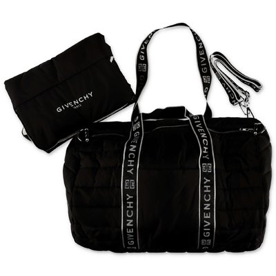 Givenchy logo black nylon padded changing bag