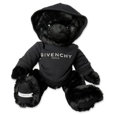 Givenchy black teddy bear with logo sweatshirt
