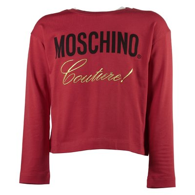 T-shirt rossa Moschino Couture in jersey di cotone