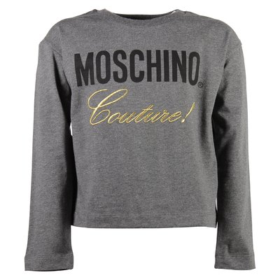 Moschino Couture grey cotton jersey t-shirt