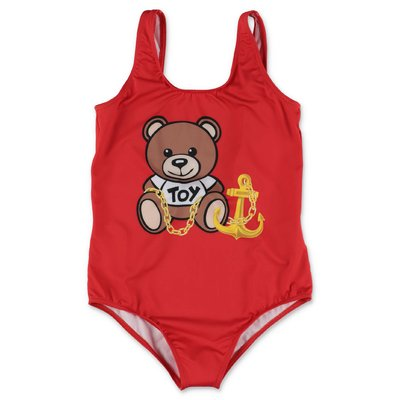MOSCHINO Teddy Bear red lycra swimsuit