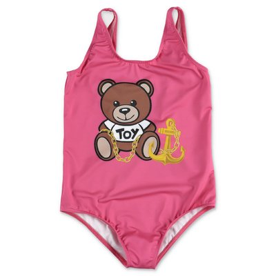 MOSCHINO Teddy Bear pink lycra swimsuit