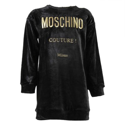 Moschino Couture black chenille dress