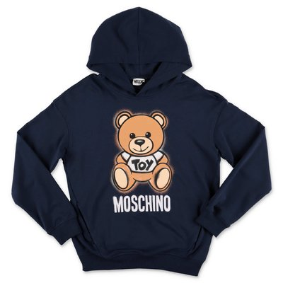 MOSCHINO navy blue Teddy Bear cotton sweatshirt hoodie