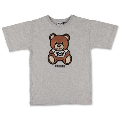 MOSCHINO Teddy Bear melange grey cotton jersey t-shirt