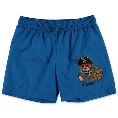 MOSCHINO blue nylon swim shorts