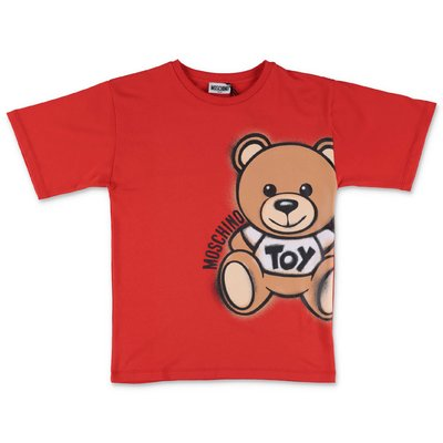 MOSCHINO red Teddy Bear cotton jersey t-shirt